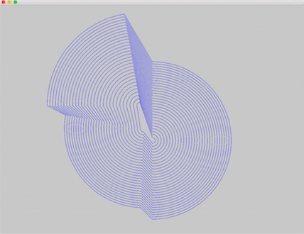 Bridget Riley Circles in development