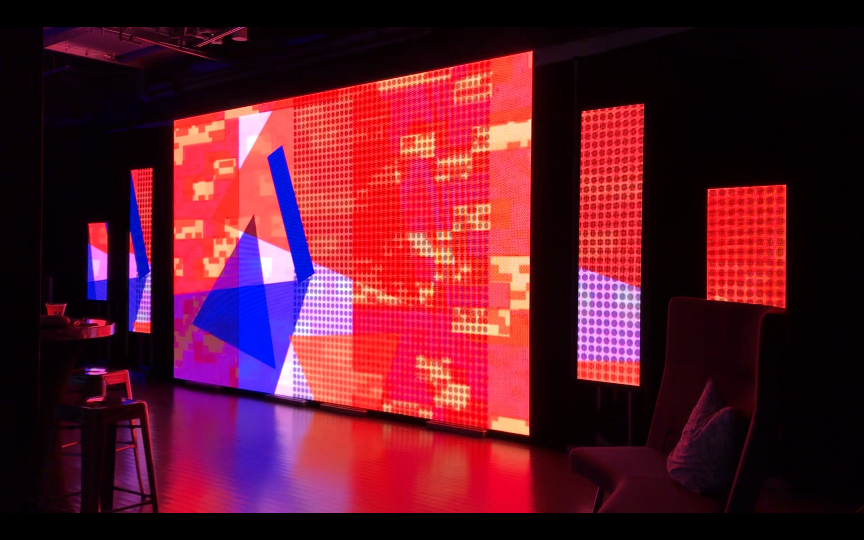still showing installation view of digital conglomerate